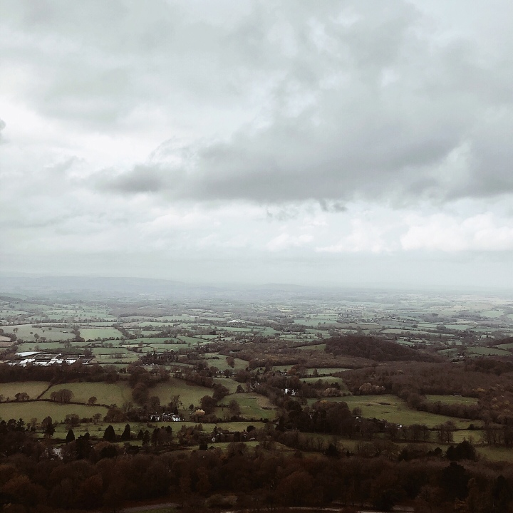 View into Herefordshire from the Malvern Hills, Worcestershire, England.