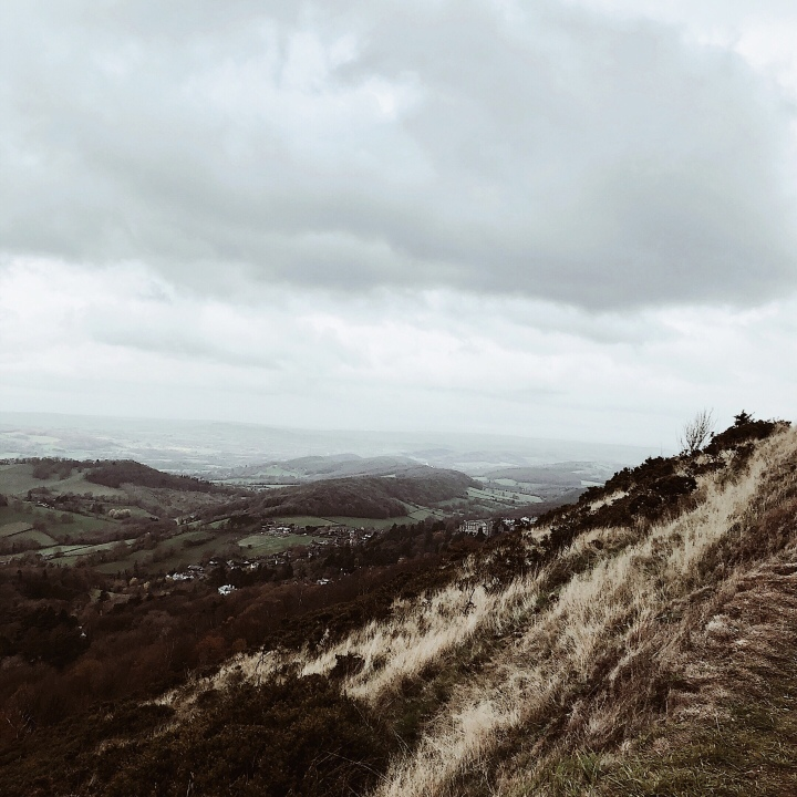 View from the Malvern Hills in Worcestershire, England.