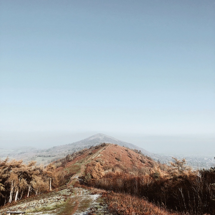 The Malvern Hills in Worcestershire, England on a frosty, November morning.