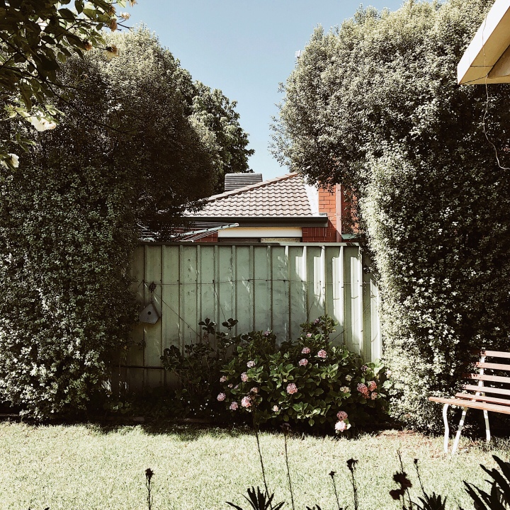 A typical Australian backyard.