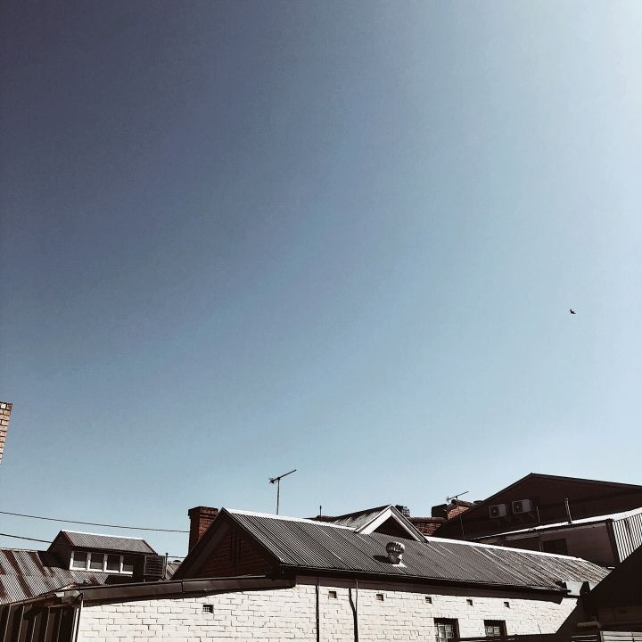 Rooftops in Wagga Wagga, New South Wales, Australia.