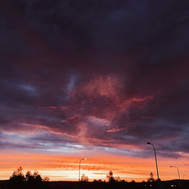 Sunset over Wagga Wagga, New South Wales, Australia.