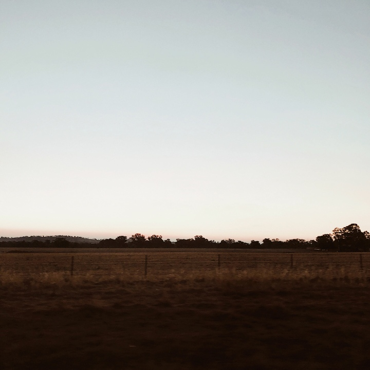 Sunset over the southern Riverina in regional New South Wales, Australia.