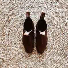 RM Williams boots in tan kangaroo leather.