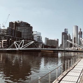 The Yarra River in Melbourne, Victoria, Australia.