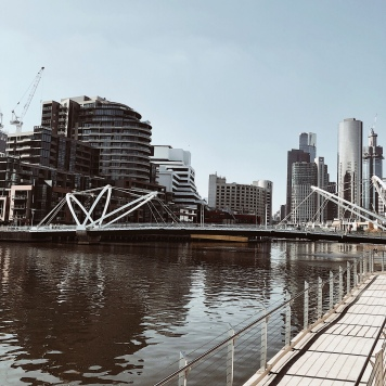 The Yarra River in Melbourne, Victoria, Australia.