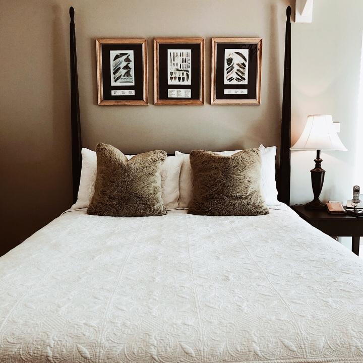 Bedroom at Nimbo Fork Lodge, Killimicat, New South Wales, Australia.
