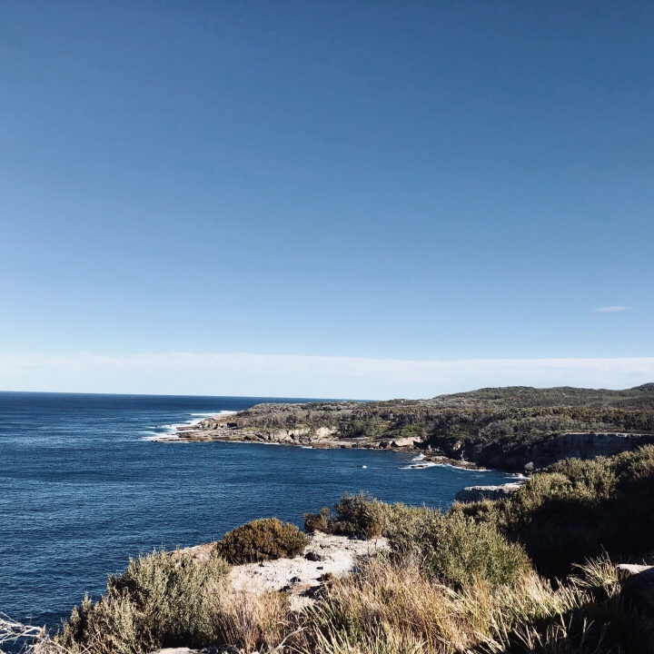 View from Cape St George Lighthouse ruins, Jervis Bay Territory, Australia.