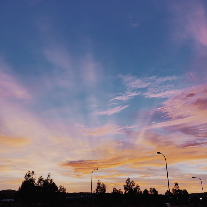 Sunset in Wagga Wagga, New South Wales, Australia.