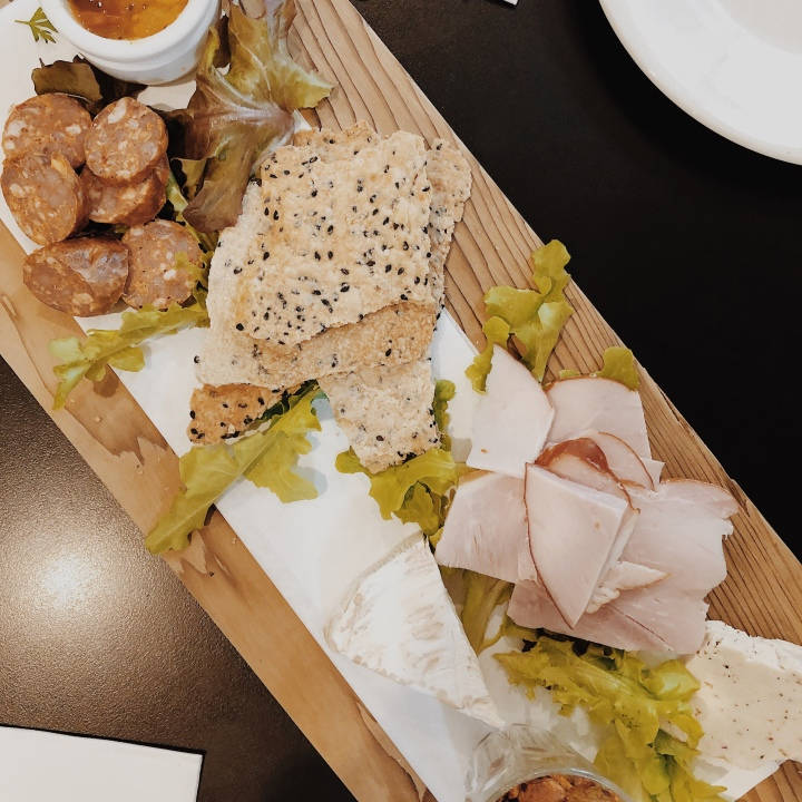 Grazing platter from the Nest cafe in Tumbarumba, New South Wales, Australia.