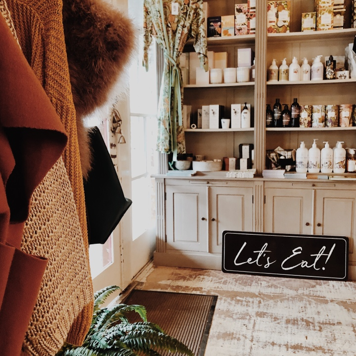 Clothes and body products for sale in Jaudine Interiors in Narrandera, New South Wales, Australia.