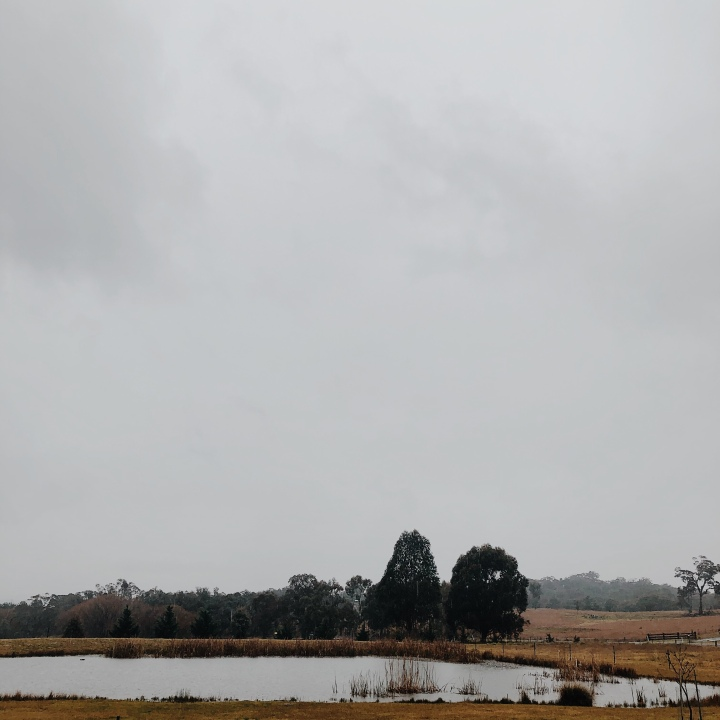 Rainy countryside near Gundaroo, New South Wales, Australia.