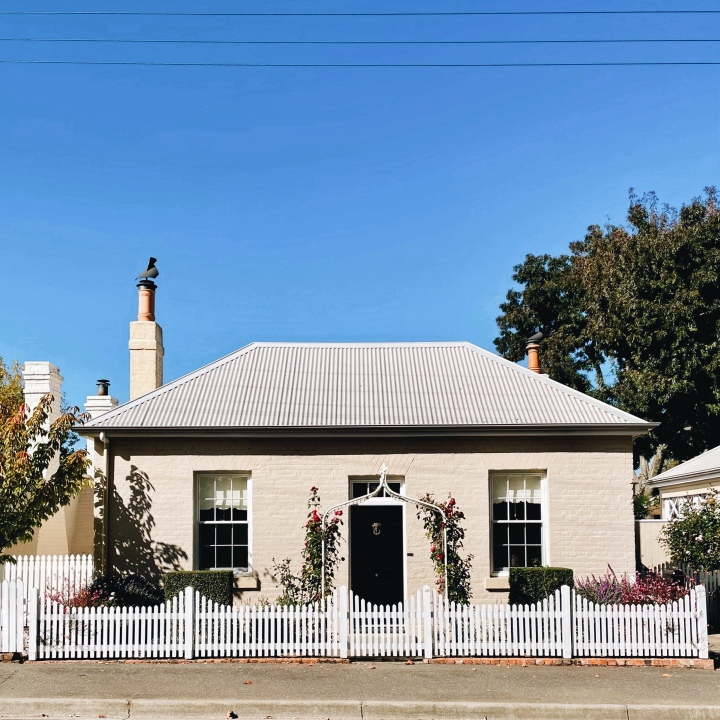 A house in Evandale, Tasmania, Australia.