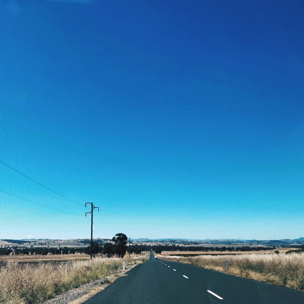 Country road in southern New South Wales.