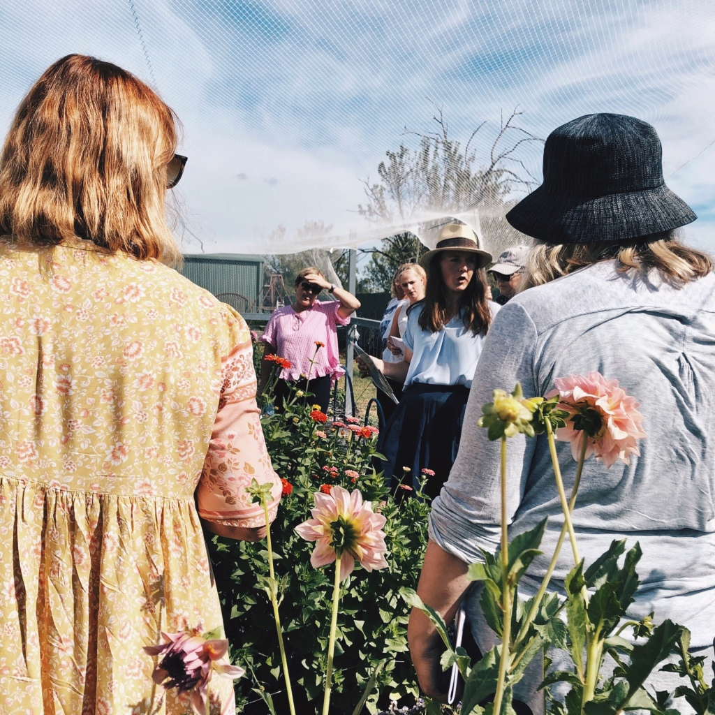 Sophie of Little Triffids Flowers speaking during one of her Bloom Guild workshops.