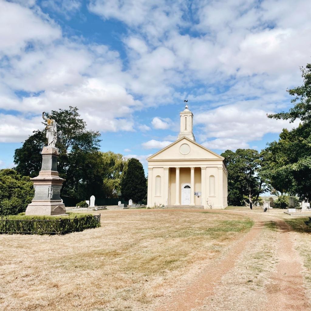 St Andrew's Uniting Church in Evandale, Tasmania, Australia.