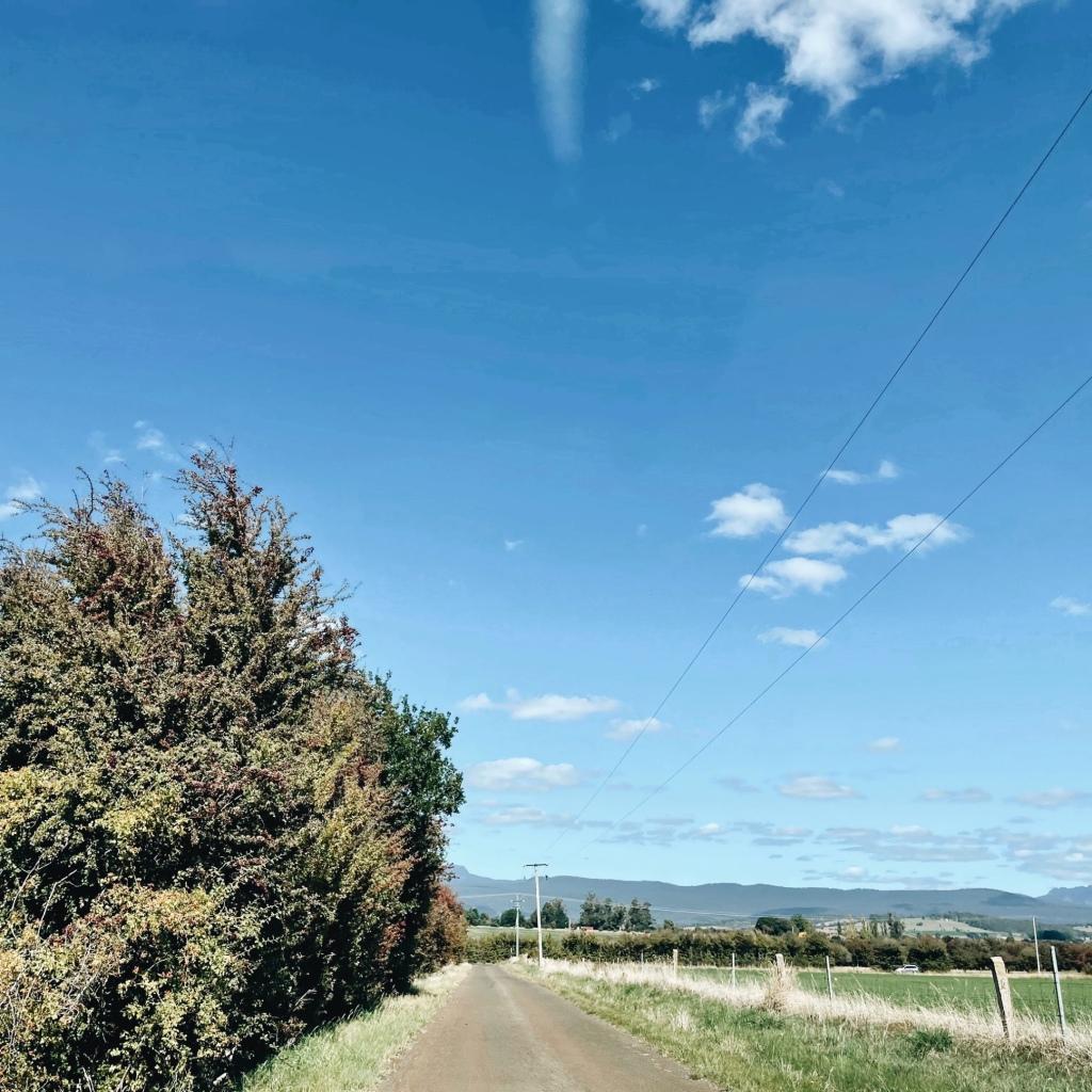 Country laneway near Westbury, Tasmania, Australia.