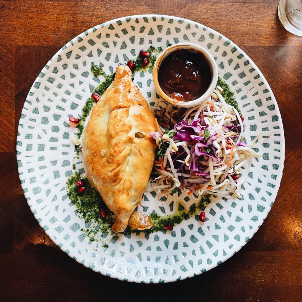 Cornish pasty from the Green Door Cafe in Westbury, Tasmania, Australia.