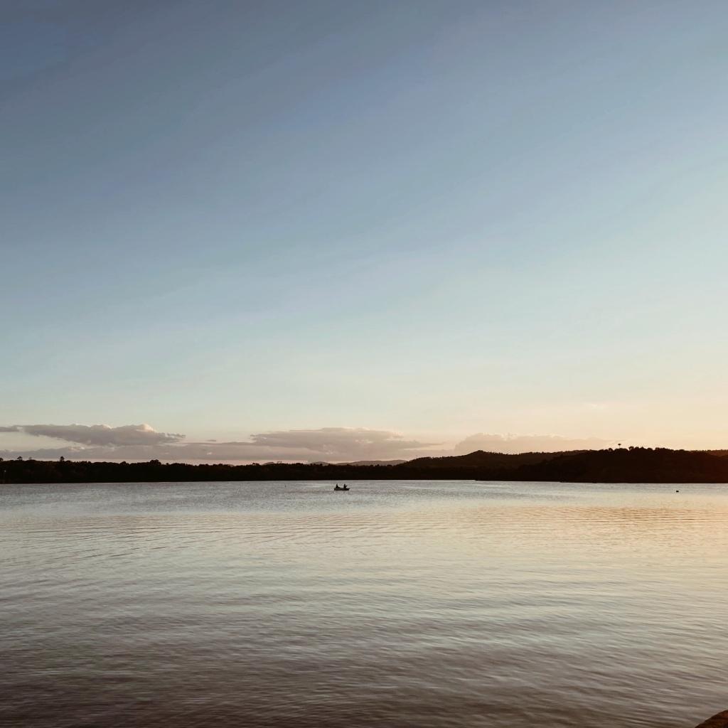 Sunset at Causeway Lake, Yeppoon, Queensland, Australia.