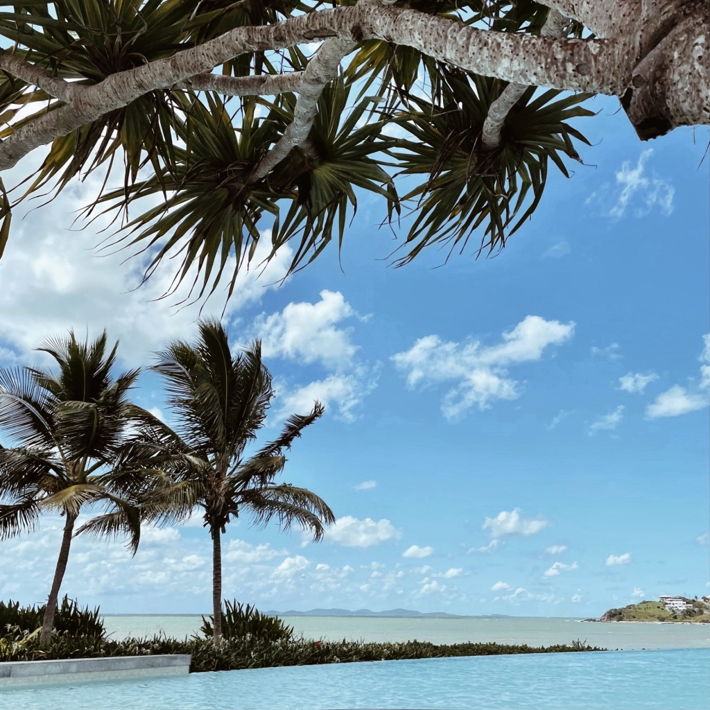 Looking across the water at Yeppoon Lagoon into Keppel Bay, Queensland, Australia.