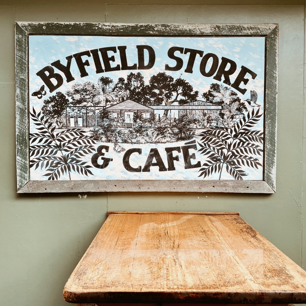 Byfield Store and Cafe sign.