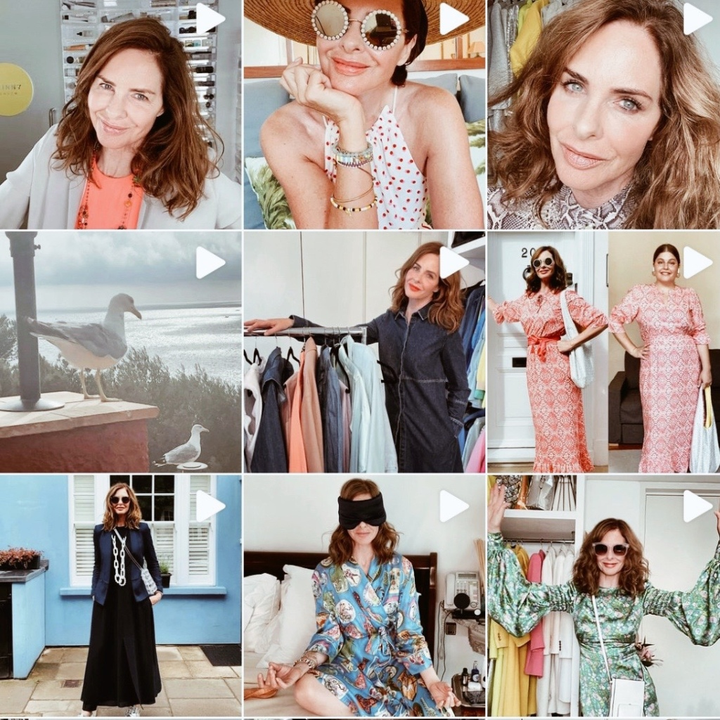 Screenshot of Trinny Woodall's Instagram page.